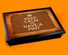Have a Pint Keep Calm Vintage Lap Tray
