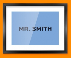 His Personalised Text Framed Print