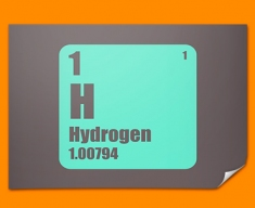 Hydrogen Periodic Table of Elements Poster