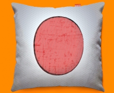 Japan Flag Cushion 45x45cm