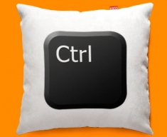 Keyboard Key Ctrl Black Funky Sofa Cushion 45x45cm