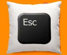 Keyboard Key Esc Black Funky Sofa Cushion 45x45cm