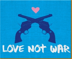 Love Not War Canvas Art Print
