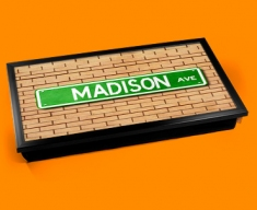 Madison Ave Street Sign Laptop Lap Tray