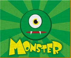 Monster Canvas Art Print
