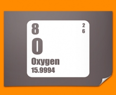 Oxygen Periodic Table of Elements Poster