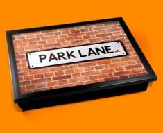 Park Lane Street Sign Cushion Lap Tray