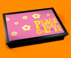 Peace & Love Cushion Lap Tray