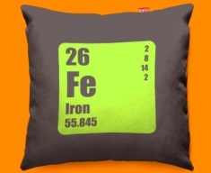 Periodic Table Iron Funky Sofa Cushion 45x45cm