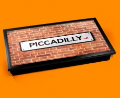 Piccadilly Street Sign Laptop Lap Tray