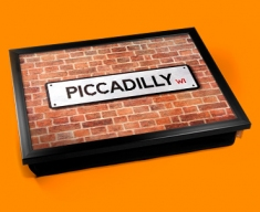 Piccadilly Street Sign Cushion Lap Tray