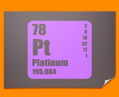 Platinum Periodic Table of Elements Poster