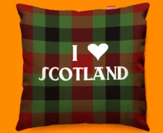 I Love Scotland Red Funky Sofa Cushion 45x45cm