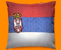Serbia Flag Cushion 45x45cm
