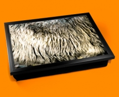 Sheep Animal Skin Lap Tray