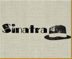 Sinatra Hat Canvas Art Print
