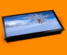 Snowy Road Laptop Lap Tray