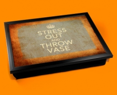 Stress Out Keep Calm Vintage Lap Tray