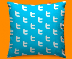 Twitter Pattern Funky Sofa Cushion 45x45cm
