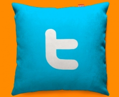 Twitter T Funky Sofa Cushion 45x45cm