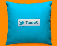 Twitter Tweet Funky Sofa Cushion 45x45cm