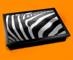 Zebra Animal Skin Lap Tray